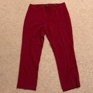 Red pencil pants from The Limited